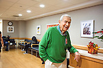 Alan Epstein makes rounds to waiting rooms welcoming family of patients to the Montefiore Caregiver Support Center in the hospital in the Bronx, New York on Monday, December 5, 2016.