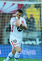 Alex Baumjohann celebrates opening the scoring during the A-League football match between Wellington Phoenix and Western Sydney Wanderers at Westpac Stadium in Wellington, New Zealand on Saturday, 3 November 2018. Photo: Dave Lintott / lintottphoto.co.nz
