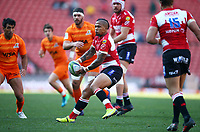 Elton Jantjies of the Emirates Lions during the Super Rugby quarter-final match between the Emirates Lions and the Jaguares at the Emirates Airlines Park Stadium,Johannesburg, South Africa on Saturday, 21 July 2018. Photo: Steve Haag / stevehaagsports.com