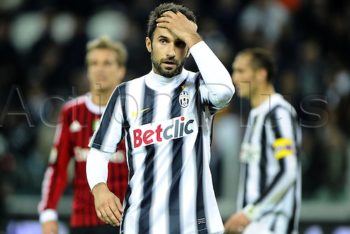 20.03.2012. Turin, Italy.  Coppa Italia versus Juventus Milan. Phtoo Mirko Vucinic  The game ended in a 2-2 draw with Juventus going through to the next round 4-3 on aggregate.