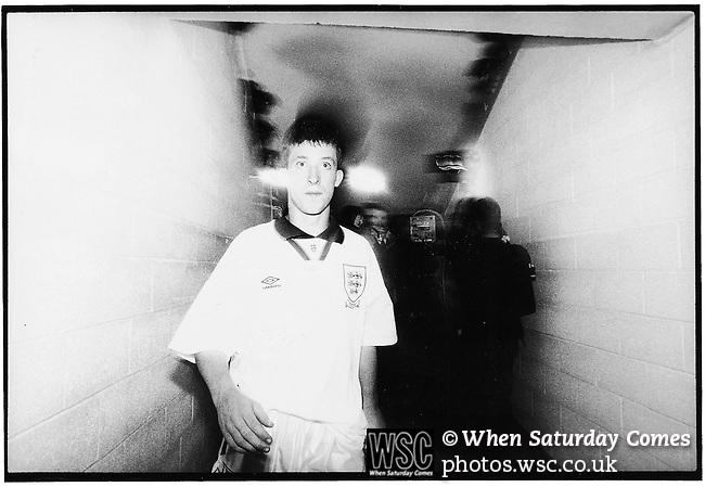 Robbie Fowler, England Youth c1995. (Exact date tbc). Photo by Tony Davis
