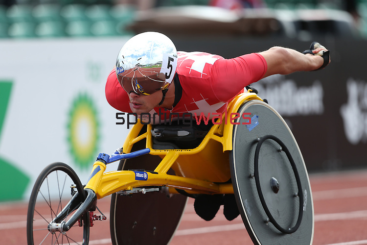 IPC European Athletics Championship 2014<br /> Marcel Hug (SUI)<br /> Men's 1500m T54<br /> Swansea University<br /> 19.08.14<br /> &copy;Steve Pope-SPORTINGWALES