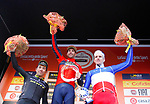 Vincenzo Nibali (ITA) Bahrain-Merida wins, with Caleb Ewan (AUS) Mitchelton-Scott finishing in 2nd place and Arnaud Demare (FRA) Groupama FDJ 3rd, the 109th edition of Milan-Sanremo 2018 running 294km from Milan to Sanremo, Italy. 17th March 2018.<br /> Picture: LaPresse/Spada | Cyclefile<br /> <br /> <br /> All photos usage must carry mandatory copyright credit (&copy; Cyclefile | LaPresse/Spada)