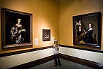 Sarah Bitter, 9, views paintings in the Crocker Art Museum in Sacramento, California.