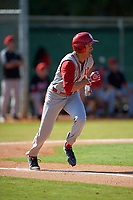 Indiana Hoosiers third baseman Isaiah Pasteur (6) during a game against the Illinois State Redbirds on March 4, 2016 at North Charlotte Regional Park in Port Charlotte, Florida.  Indiana defeated Illinois State 14-1.  (Mike Janes/Four Seam Images)