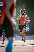 3rd place finishers in the 4 x 400 meter relay - Joey Najjar '19, James Brennan '22, Charles Marks '21 and Andrew McCall '19<br /> The Occidental College men's and women's track and field teams compete in the 2019 Southern California Intercollegiate Athletic Conference (SCIAC) Track and Field Championships at the Claremont-Mudd-Scripps Burns Track Complex in Claremont, Calif. on Sunday, April 28, 2019.<br /> After the two-day SCIAC Championships CMS scored 211.50 points, followed by Pomona-Pitzer (171.50), Redlands (114), Occidental (92.50), Whittier (57.50), La Verne (54), Cal Lutheran (48), Chapman (23) and Caltech (4).