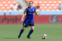 Houston, TX - Saturday May 27, 2017: Christine Nairn looks to pass the ball during a regular season National Women's Soccer League (NWSL) match between the Houston Dash and the Seattle Reign FC at BBVA Compass Stadium.