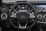 Car pictures of steering wheel view of a 2017 Mercedes Benz S-Class AMG-Line 2 Door Convertible Steering Wheel