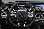 Car pictures of steering wheel view of a 2017 Mercedes Benz S-Class AMG-Line 2 Door Convertible Steering Wheel