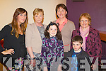 Pictured at the opening night of Oliver the musical in Siamsa Tíre on Tuesday evening were l-r: Anna O'Donoghue, Theresa O'Donoghue, Clodagh O'Loughlin, Kathleen O'Loughlin, Samuel Tiplady and Maureen Tiplady.