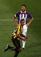Phoenix striker Paul Ifill celebrates his goal during the A-League football match between Wellington Phoenix and Perth Glory at Westpac Stadium, Wellington, New Zealand on Sunday, 16 August 2009. Photo: Dave Lintott / lintottphoto.co.nz
