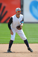Trenton Thunder third baseman Reegie Corona #7 during a game against the Reading Fightin Phils on July 8, 2013 at Arm & Hammer Park in Trenton, New Jersey.  Trenton defeated Reading 10-6.  (Mike Janes/Four Seam Images)