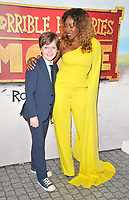 "Hector Bateman-Harden and Dominique Moore at the ""Horrible Histories: The Movie - Rotten Romans"" world film premiere, Odeon Luxe Leicester Square, Leicester Square, London, England, UK, on Sunday 07th July 2019.<br /> CAP/CAN<br /> ©CAN/Capital Pictures"