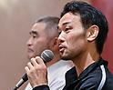 Boxing : Shinsuke Yamanaka of Japan attends press conference