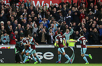 Andre Gray of Burnley celebrates scoring his sides first goal of the match during the Premier League match between Swansea City and Burnley at The Liberty Stadium, Swansea, Wales, UK. Saturday 06 March 2017