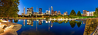 Another capture of a pano of the Austin skyline as it is reflected in this reflection pool with the Long Center in view along with all the high rise buildings in downtown.  This reflection pool is located next to the Long Center and Butler Park at the Palmer Events Center.