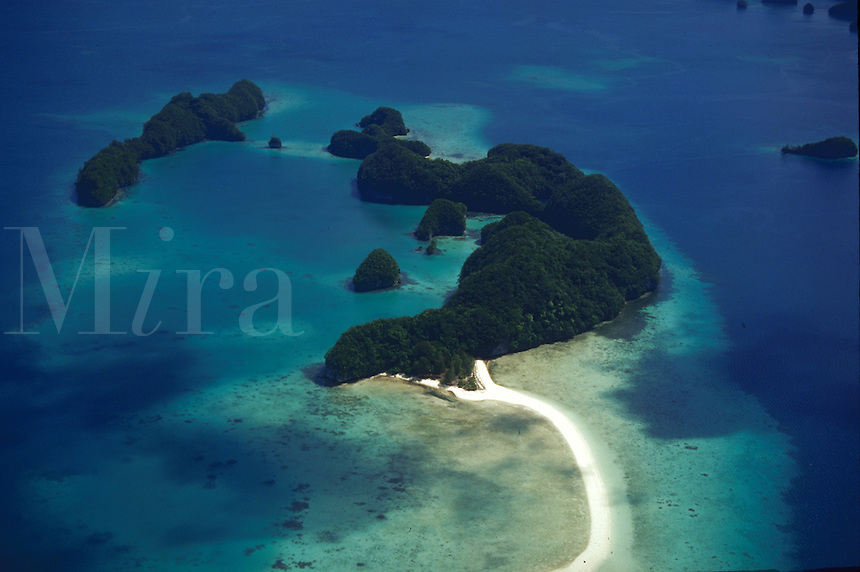 Aerial view of Rock Islands, Palau