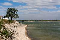 Shoreline along Lake Texoma, Texas.