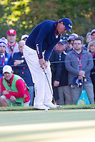 Phil Mickelson (Team USA) on the 5th green during the Saturday morning Foursomes at the Ryder Cup, Hazeltine national Golf Club, Chaska, Minnesota, USA.  01/10/2016<br /> Picture: Golffile | Fran Caffrey<br /> <br /> <br /> All photo usage must carry mandatory copyright credit (&copy; Golffile | Fran Caffrey)