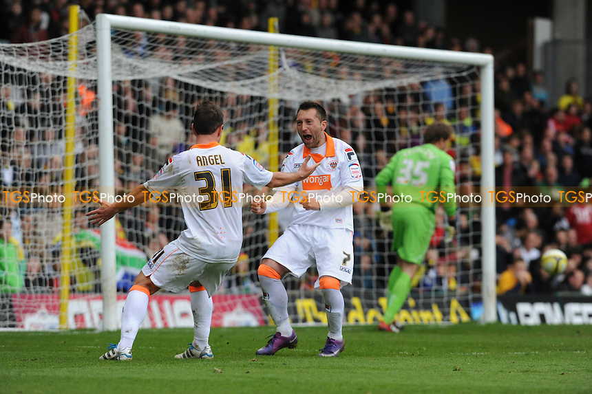 Stephen Dobbie of Blackpool scores from the spot - Watford vs Blackpool - nPower Championship Football at Vicarage Road, Watford - 06/04/12 - MANDATORY CREDIT: Anne-Marie Sanderson/TGSPHOTO - Self billing applies where appropriate - 0845 094 6026 - contact@tgsphoto.co.uk - NO UNPAID USE.
