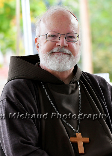 (Boston MA 10/23/17) Cardinal Sean Patrick O'Malley during a ground breaking ceremony at the Bethany mixed income apartments, 37 units were planned in a building that formerly was used as a dormitory,  Monday, Oct. 23, 2017, in Hanover.  Herald Photo by Jim Michaud