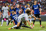 Chelsea Defender David Luiz (R) fights for the ball with FC Internazionale Defender Joao Miranda (L) during the International Champions Cup 2017 match between FC Internazionale and Chelsea FC on July 29, 2017 in Singapore. Photo by Marcio Rodrigo Machado / Power Sport Images