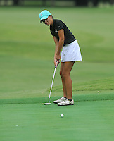 NWA Democrat-Gazette/MICHAEL WOODS &bull; @NWAMICHAELW<br /> Bentonville High School golfer Katie McClosky  attempts a putt Tuesday August 4, 2015 during the golf tournament at the Springdale Country club.