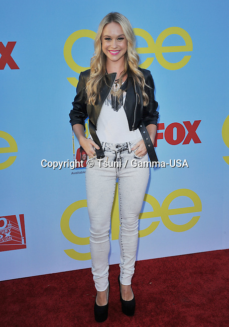 Becca Tobin  at the GLEE Premiere on the Paramount Lot in Los Angeles.