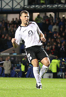 Ryan McGuffie watches as he scores the winning penalty in the Rangers v Queen of the South Quarter Final match in the Ramsdens Cup played at Ibrox Stadium, Glasgow on 18.9.12.