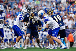 FOXBORO, MA - MAY 28: Charlie Bertrand (6) of the Merrimack Warriors during the Division II Men's Lacrosse Championship held at Gillette Stadium on May 28, 2017 in Foxboro, Massachusetts. (Photo by Larry French/NCAA Photos via Getty Images)