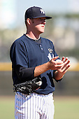 New York Yankees minor league pitcher Zach Varce (47) vs. the Pittsburgh Pirates in an Instructional League game at the New York Yankees Minor League Complex in Tampa, Florida;  October 8, 2010.  Photo By Mike Janes/Four Seam Images