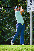 Gary Woodland  (USA) watches his tee shot on 2 during round 1 of the World Golf Championships, Mexico, Club De Golf Chapultepec, Mexico City, Mexico. 3/2/2017.<br /> Picture: Golffile | Ken Murray<br /> <br /> <br /> All photo usage must carry mandatory copyright credit (&copy; Golffile | Ken Murray)