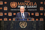 Opening Plenary Meeting of the Nelson Mandela Peace Summit<br /> <br /> His Excellency Didier REYNDERSDeputy Prime Minister and Minister for Foreign andEuropean Affairs of Belgium