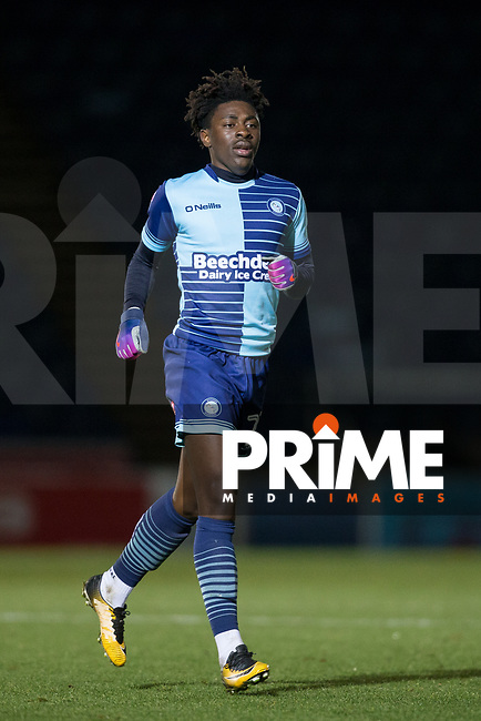 Eberechi 'Ebere' Eze of Wycombe Wanderers during the Sky Bet League 2 match between Wycombe Wanderers and Yeovil Town at Adams Park, High Wycombe, England on 25 November 2017. Photo by Andy Rowland.