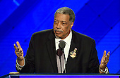Former Mayor Wellington E. Webb (Democrat of Denver, Colorado), a Hillary Clinton delegate, makes remarks at the 2016 Democratic National Convention at the Wells Fargo Center in Philadelphia, Pennsylvania on Monday, July 25, 2016.<br /> Credit: Ron Sachs / CNP<br /> (RESTRICTION: NO New York or New Jersey Newspapers or newspapers within a 75 mile radius of New York City)