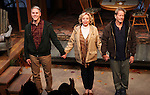 Ian Lithgow, Michael Learned & Peter Strauss during the Off- Broadway Opening Night Performance Curtain Call for the Delaware Theatre Company Production of 'The Outgoing Tide'  at 59E59 Theatre in New York City on 11/20/2012.