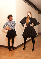 Callecia J Brown with her model Carina Pennant (white girl)