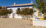 Traditional architecture building cottage style house Cacela Velha, Vila Real de Santo António, Algarve, Portugal, Southern Europe