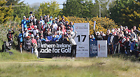 Thursday 28 May 2015; Martin Kaymer, Germany,  tees up at the 14th<br /> <br /> Dubai Duty Free Irish Open Golf Championship 2015, Round 1 County Down Golf Club, Co. Down. Picture credit: John Dickson / SPORTSFILE