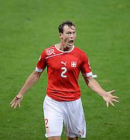 Fussball International  WM Qualifikation 2014   in Bern Schweiz - Island          06.09.2013 JUBEL Schweiz; Torschuetze Stephan LICHTSTEINER
