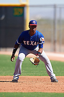 Texas Rangers Willy Diaz (89) during an Instructional League game against the Kansas City Royals on October 4, 2016 at the Surprise Stadium Complex in Surprise, Arizona.  (Mike Janes/Four Seam Images)