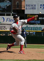 April 24, 2004:  Starting pitcher Ed Yarnell (22) of the Scranton-Wilkes Barre Red Barons, Class-AAA International League affiliate of the Philadelphia Phillies, during a game at Frontier Field in Rochester, NY.  Photo by:  Mike Janes/Four Seam Images