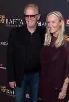 Peter Fonda and wife Parky Fonda attend the BAFTA Los Angeles Awards Season Tea Party at Hotel Four Seasons in Beverly Hills, California, USA, on 06 January 2018. Photo: Hubert Boesl - NO WIRE SERVICE - Photo: Hubert Boesl/dpa /MediaPunch ***FOR USA ONLY***