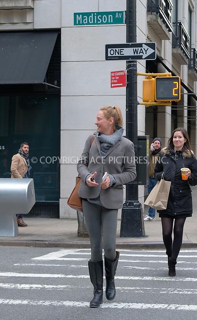 www.acepixs.com<br /> <br /> April 11 2018, New York City<br /> <br /> Actress Uma Thurman goes make-up free as she leaves Barneys on April 11 2018 in New York City<br /> <br /> By Line: Curtis Means/ACE Pictures<br /> <br /> <br /> ACE Pictures Inc<br /> Tel: 6467670430<br /> Email: info@acepixs.com<br /> www.acepixs.com