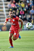 Tarek Elrich in action during the A League - Wellington Phoenix v Adelaide United at Hutt Recreational Ground, Lower Hutt, New Zealand on Saturday 7 March 2015. <br /> Photo by Masanori Udagawa. <br /> www.photowellington.photoshelter.com.