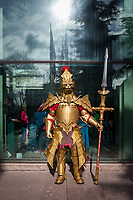 Dragon Slayer Ornstein from Dark Souls, Western Champion of Cosplay, Emerald City Comicon, Seattle, WA, USA.