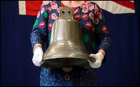 BNPS.co.uk (01202 558833)Pic: HAldridge/BNPS<br /> <br /> Treasure Jones kept the bell from the Mauretania to be used as a doorbell at his home in Southampton.<br /> <br /> The archive of one of Britains most famous mariners is sailing in to auction at HAldridge in Devizes in Wiltshire.<br /> <br /> Capt John Treasure Jones captained the Mauretania, and Queen Elizabeth before commanding the Queen Mary on final her Atlantic crossing in 1967.<br /> <br /> During WW2 he was torpedoed off Ireland before captaining a Sunflower class Corvette, he finished the war serving under Mountbatten in the Far East.