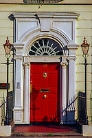 Georgian doorway, Merrion Square, Dublin, Ireland