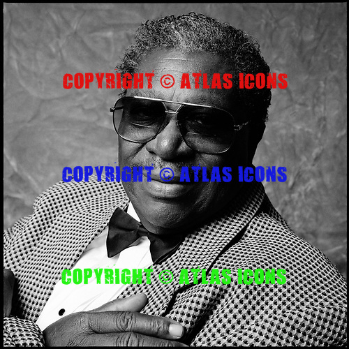 BB King, portrait session, 1993 ,Ken Settle/atlasicons.com