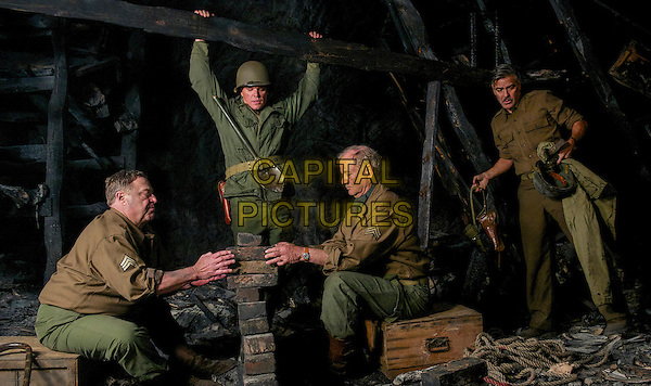 John Goodman, Matt Damon, Bill Murray, George Clooney<br /> in The Monuments Men (2014) <br /> *Filmstill - Editorial Use Only*<br /> CAP/FB<br /> Image supplied by Capital Pictures